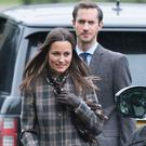 Pippa Middleton and James Matthews attend church on Christmas Day on December 25, 2016 in Bucklebury, Berkshire. (Photo by Samir Hussein/Samir Hussein/WireImage)