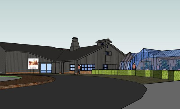 An artist's impression of the new visitor centre