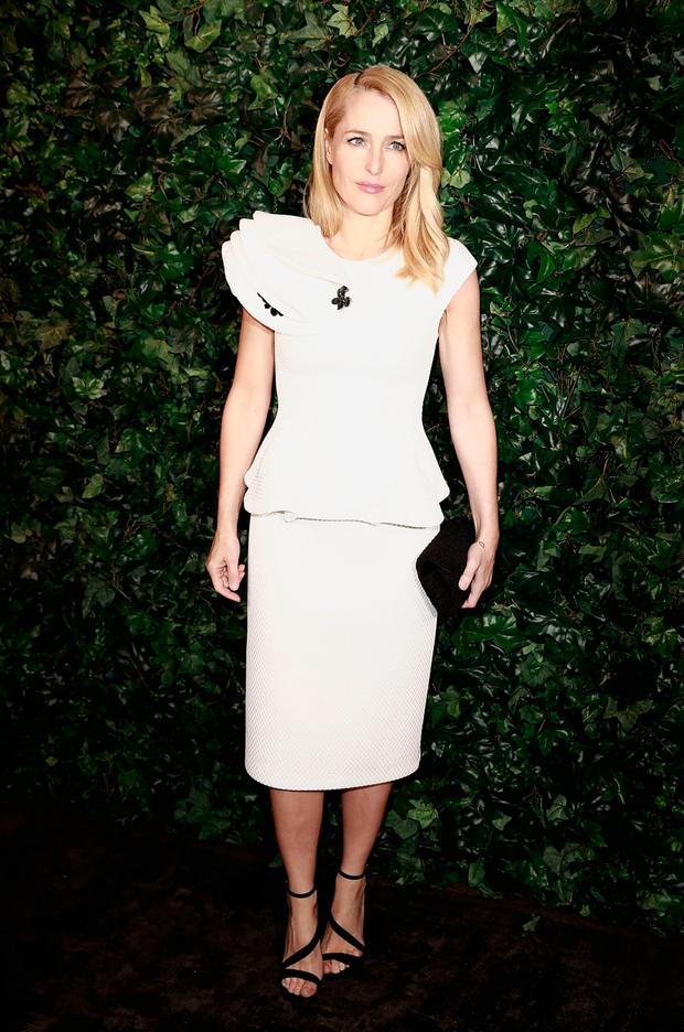 Gillian Anderson attends a pre BAFTA party hosted by Charles Finch and Chanel at Annabel's on February 11, 2017 in London, England. (Photo by John Phillips/John Phillips/Getty Images)