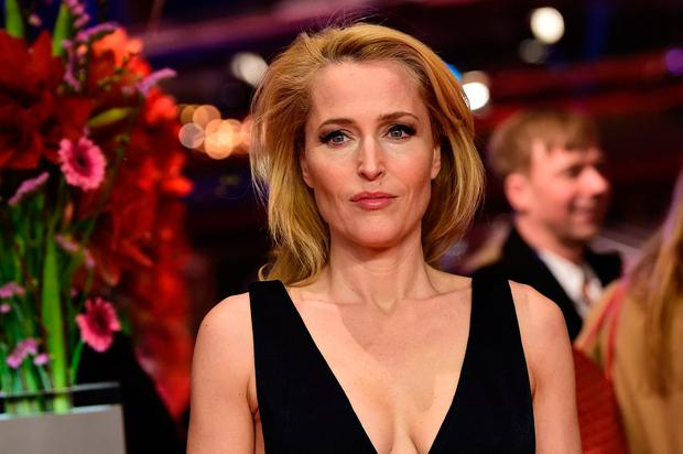 US actress Gillian Anderson arrives for the screening of the film