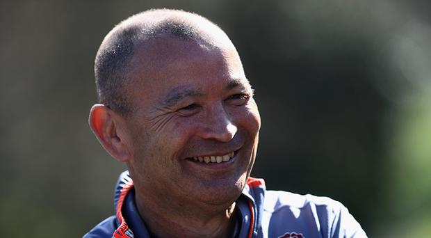 BAGSHOT, ENGLAND - MARCH 13: Eddie Jones, the England head coach, faces the media at the media session held at Pennyhill Park on March 13, 2017 in Bagshot, England. (Photo by David Rogers/Getty Images)