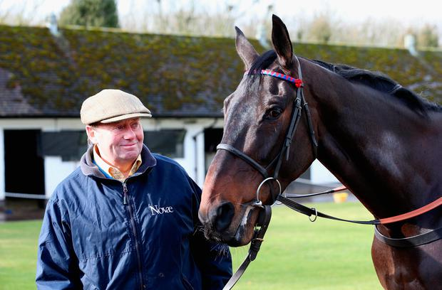 Nicky Henderson with his former starchaser Sprinter Sacre. Photo: Getty