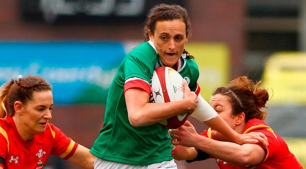 Nullifying the threat of Wilson is likely to fall on the shoulders of Hannah Tyrrell, pictured, centre. Photo: Darren Griffiths/SPORTSFILE