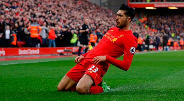 Liverpool midfielder Emre Can says his delay in signing a new Anfield contract has nothing to do with wage demands. Photo: REUTERS