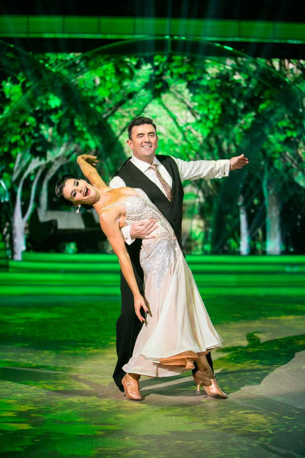 Des Cahill with dance partner Karen Byrne on RTÉ's 'Dancing with the Stars' Picture: Kyran O'Brien