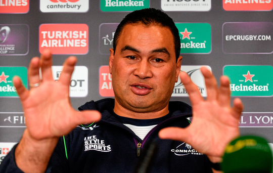 Connacht coach Pat Lam will address the conference Picture: Paul Mohan / SPORTSFILE