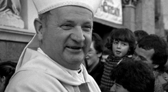 Bishop Eamonn Casey pictured at the ordination of Archbishop Dermot Clifford in Thurles in 1987. Photo: Don MacMonagle