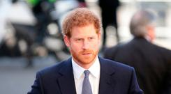 Prince Harry arrives to attend the Commonwealth Service at Westminster Abbey, London.