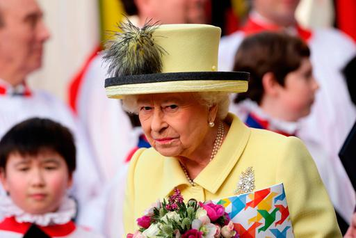 Queen Elizabeth II leaves following the Commonwealth Service at Westminster Abbey, London. Photo: PA