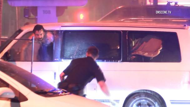 Man eventually exits his vehicle during incident in Anaheim