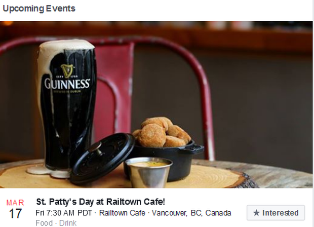 Railtown Cafe's St Patrick's Day Party. Pic: Railtown Cafe / Facebook