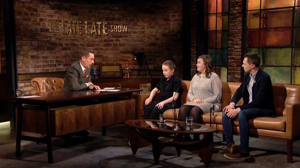 Hughie Malone appears on The Late Late Show with Adam Harris and Niamh Biddulph