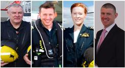 Coast Guard members on Rescue 116: Paul Ormsby, Mark Duffy, Dara Fitzpatrick and Ciarán Smith