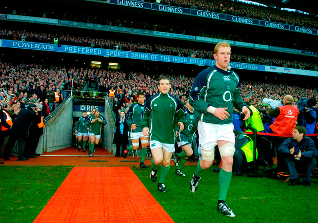 Running out to lay down a marker in Croke Park. Photo: Sportsfile