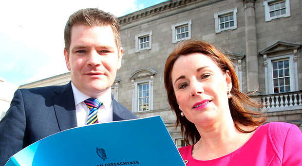PAC members Peter Burke and Josepha Madigan at the launch of the report yesterday Photo: Tom Burke