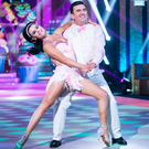 Des Cahill and partner Karen Byrne performing on 'Dancing with the Stars' Photo: Kyran O'Brien