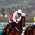 Douvan ridden by Ruby Walsh (centre) in the Betway Queen Mother Champion Chase during Ladies Day of the 2017 Cheltenham Festival at Cheltenham Racecourse. PRESS ASSOCIATION Photo. Picture date: Wednesday March 15, 2017. Photo credit should read: David Davies/PA Wire.
