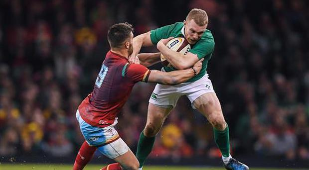 10 March 2017; Keith Earls of Ireland is tackled by Rhys Webb of Wales during the RBS Six Nations Rugby Championship match between Wales and Ireland at the Principality Stadium in Cardiff, Wales. Photo by Brendan Moran/Sportsfile