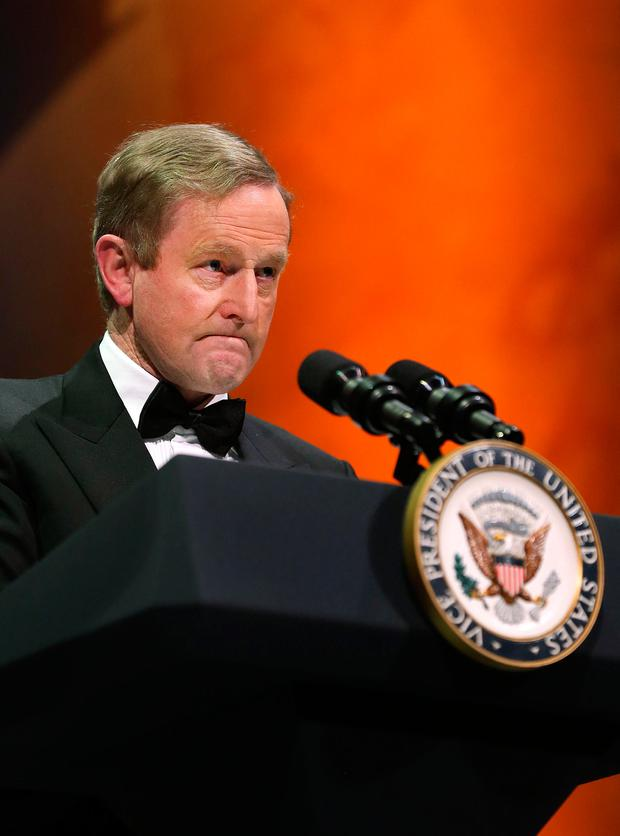 Enda Kenny speaks at the Ireland Funds Dinner, Washington Museum. Picture: Gerry Mooney