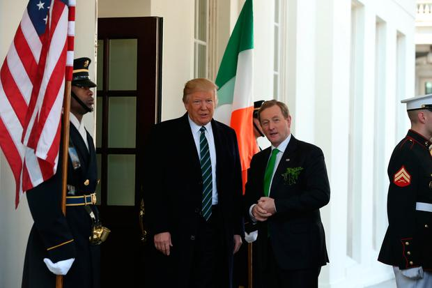 Taoiseach Enda Kenny meets US President Donald Trump at the White House (Photo: Gerry Mooney)