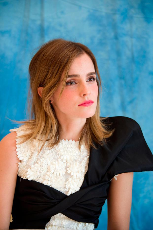 Emma Watson at a'Beauty and the Beast' press conference earlier this month