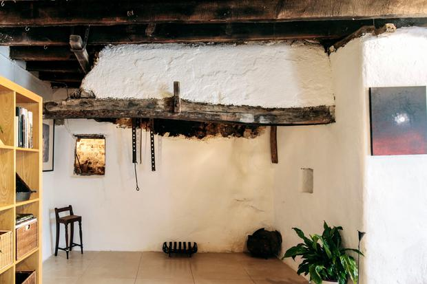 Philip and Delphine Geoghegan's farmhouse: An old forge