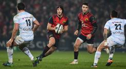 Tyler Bleyendaal, left, and Conor Murray in action for Munster against Racing 92 at Thomond Park. Photo: Diarmuid Greene/Sportsfile