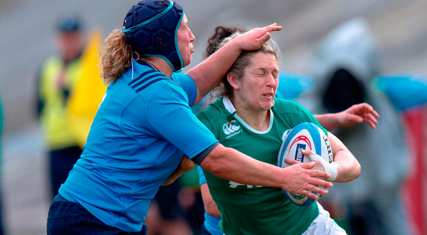 Connacht's Alison Miller and Claire Molloy both start for Ireland tonight Photo by Roberto Bregani/Sportsfile