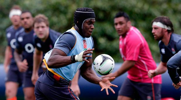 England's Maro Itoje during squad training. Photo: REUTERS