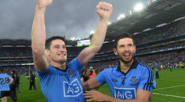 Cian O'Sullivan and Diarmuid Connolly head the list of experienced Dublin players poised to return to face Kerry. Photo: Stephen McCarthy / SPORTSFILE