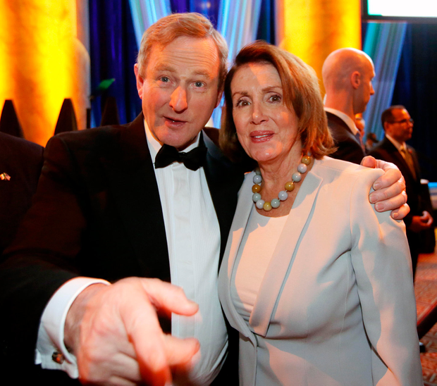 The Taoiseach meets House Democrats leader Nancy Pelosi. Photo: Gerry Mooney