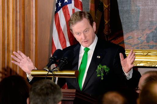 Taoiseach Enda Kenny speaks during the Friends of Ireland Luncheon at the U.S Capitol in Washington, DC. Photo: Olivier Douliery-Pool/Getty Images