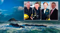 The crew of Rescue 116; (left to right) Paul Ormsby, Mark Duffy, Dara Fitzpatrick and Ciaran Smith,
