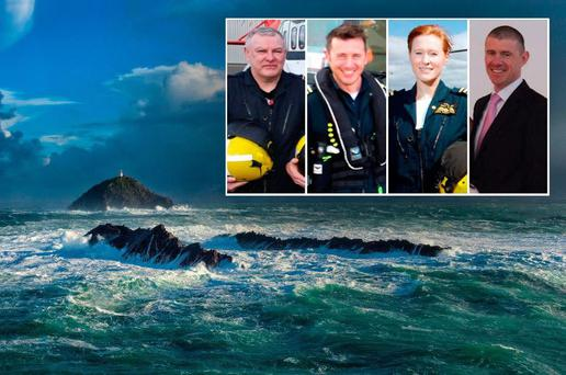 The crew of Rescue 116; (left to right) Paul Ormsby, Mark Duffy, Dara Fitzpatrick and Ciaran Smith