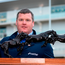 Irish Independent leading trainer Gordon Elliott with his trophy during the Cheltenham Racing Festival at Prestbury Park in Cheltenham, England. Photo by Seb Daly/Sportsfile