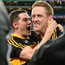 Brian Looney, left, and Colm Cooper of Dr. Crokes celebrate after the AIB GAA Football All-Ireland Senior Club Championship Final match between Dr. Crokes and Slaughtneil at Croke Park in Dublin. Photo by Brendan Moran/Sportsfile