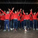 All Ireland Hurling Champions Cuala at their homecoming in Dalkey tonight. Pic: Justin Farrelly.