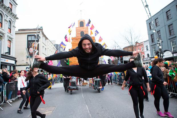 Cork Community Art Link members perform at the Cork Parade Photo: Darragh Kane
