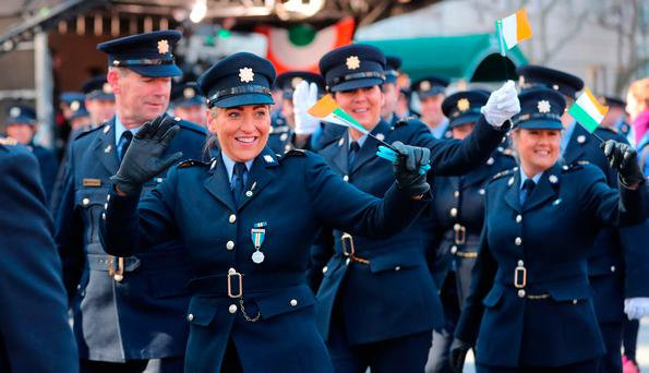 Members of An Garda Síochána during the St Patricks Day Parade in New York (PA)