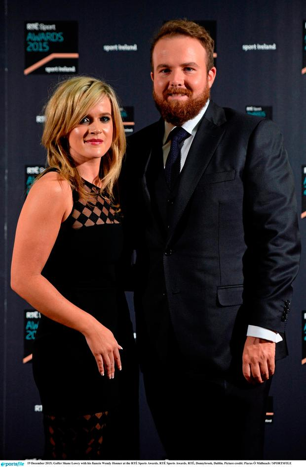 Shane Lowry and his wife Wendy Honner. Photo: Piaras Ó Mídheach / Sportsfile