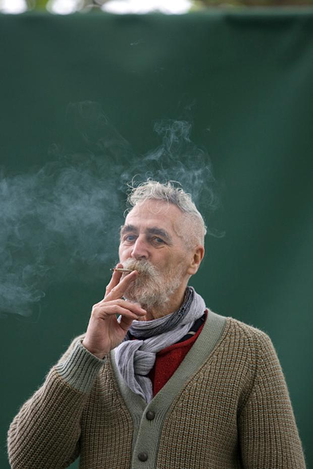 Celebrated Scottish artist and playwright, and husband of actress Tilda Swinton, John Byrne, pictured at the Edinburgh International Book Festival in 2011 where he talked about his career. (Photo by Colin McPherson/Corbis via Getty Images)