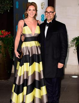 Stanley Tucci and his wife Felicity Blunt