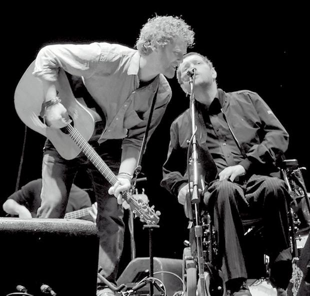 Glen Hansard with Fergus O'Farrell