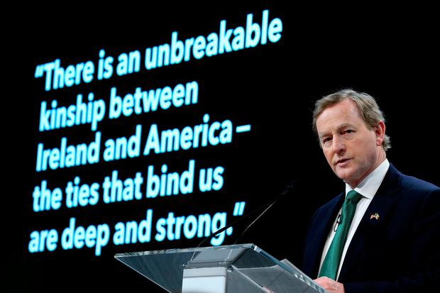 Moral Authority: Taoiseach Enda Kenny pictured at Bloomberg HQ in New York. Picture: Gerry Mooney