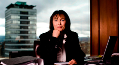 Businesswoman Gillian Bowler, who died last December aged 64, was the only chief of a major financial institution to survive the banking crisis. Photo: David Conachy