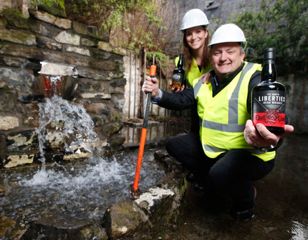 Darryl McNally, Dublin Liberties Distillery general manager and master distiller, with Sinead O'Frighil, Dublin Liberties Distillery marketing director.
