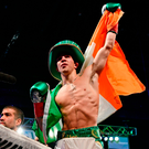 Conlan brought a sell-out crowd of 5,102 boisterous fans to the MSG Theater for his stoppage win over Tim Ibarra. Photo by Ramsey Cardy/Sportsfile