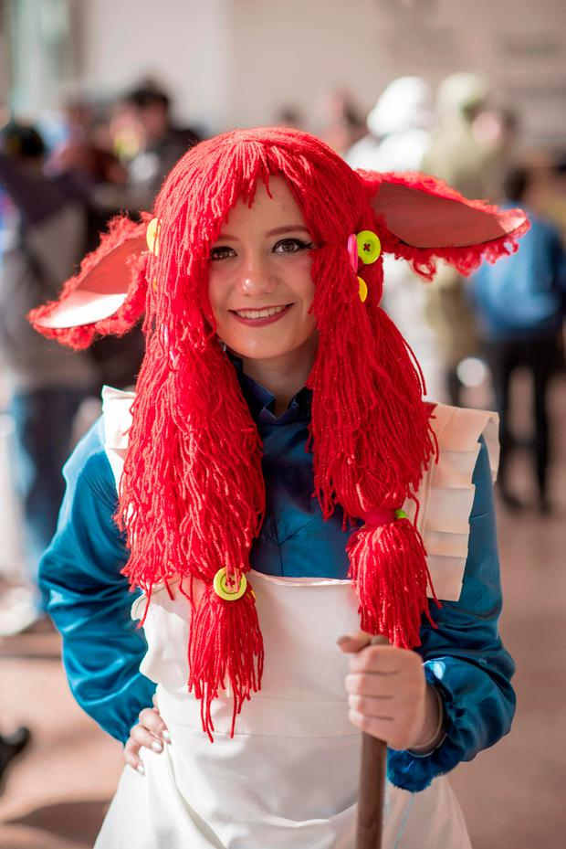 Nada Raintye (18) Blanchardstown plays Rag Doll Poppy from League of Legends. Photo: Douglas O'Connor.