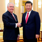 US secretary of state Rex Tillerson meets Chinese president Xi Jinping Photo: REUTERS/Lintao Zhang/Pool