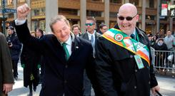 Taoiseach Enda Kenny at the St Patrick's Day parade in New York. Photo: Gerry Mooney
